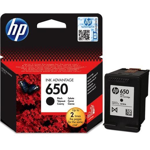 Tinta HP 650 black original
