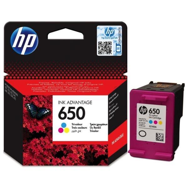 Tinta HP 650 color original